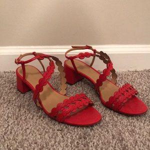 Red BANANA REPUBLIC heels! 👠